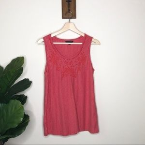 Banana Republic red striped tank